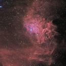 IC405 - Nébuleuse de l'étoile flamboyante Ha version finale,                                Carlos Burkhalter