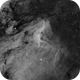 Pelican Nebula in H-a Under Full Moon,                                mlewis
