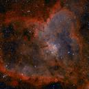 Heart Nebula - Bicolor Ha/OIII,                                DeepSkyView