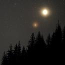 Conjunction of Saturn, Mars, and Jupiter - March 22, 2020,                                bbright