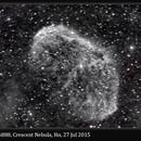 NGC 6888, Crescent Nebula, Hα, 27 Jul 2015,                                David Dearden