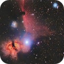 Horsehead and Flame Nebula,                                rveregin