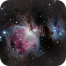 Great Orion and Running Man Nebula,                                omeganon