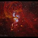 NGC3576 - The Statue of Liberty Nebula in HSO,                                Göran Nilsson