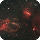 Lobster Claw and Bubble nebulae with the  Salt and Pepper Cluster,                                Shane Jones
