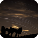 just an image of my telrad with some star trails and clouds,                                Richard O