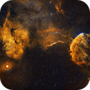 IC443 Jellyfish Nebula - 2 Panel Mosaic,                                Peter Jenkins