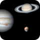 3 planets in one morning, Mars, Jupiter & Saturn 13th May 2020,                                Niall MacNeill