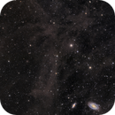 Mandel-Wilson 3 The Volcano Nebula, M81 & M82 IFN - LRGB 4 panel mosaic,                                Barry Wilson