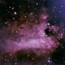 Nebulosa Omega M17,                                gioveluna