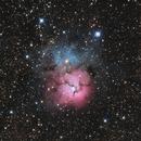 Messier 20, the Trifid Nebula,                                Madratter