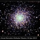 M13, Great Hercules Globular Cluster, 26 Jun 2013,                                David Dearden