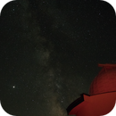 "The dome of the 60 cm ""Cassegrain"" telescope and the Milky way at NAO Rozhen,                                Grozdan Grozev"
