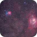 M8 Lagoon and M20 Triffid Nebulae region - 65mm Quadruplet on Avalon M-Zero,                                Agostino Lamanna