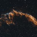 NGC6992, NGC6995, Eastern Veil Nebula Bi-Colour (H-OH-O),                                HaSeSky