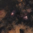M16 Eagle Nebula - M17 Omega Nebula 20200718 3962s 02.7.8,                                Allan Alaoui