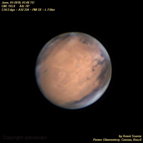 A beautiful Mars!,                                Astroavani - Ava...