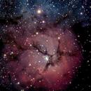Trifid Nebula 1370 5 Sec Subs,                                TSquasar