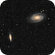 M 81 and M 82, first complete test with ZWO ASI 1600 mono,                                Paul Muskee