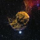Jellyfish Nebula (IC 443) - HSO (18hrs),                                dswtan