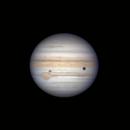 Jupiter, Europa, Ganymede (and shadow),                                stricnine