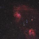 IC 405 & IC410 (Ha+RGB),                                Scott Davis