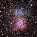 Trifid Nebula, Unguided, 27 minutes,                                Marco van der Kooij