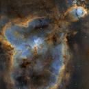 The Heart Nebula  IC1805  - SHO Mosaic,                                Arnaud Peel