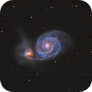 M51 first light with C9,25,                                Bosse