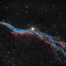 Veil Nebula in HOO,                                Anca Popa