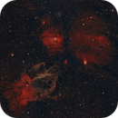 NGC7635, NGC 7538 & Sh2-157: The Bubble, Northern Lagoon & Lobster Claw Nebula,                                FlapAstro