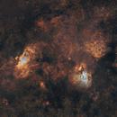 M16 Eagle Nebula - M17 Omega Nebula 20210425 12600s SHO 3962s RGB 01.2.2,                                Allan Alaoui