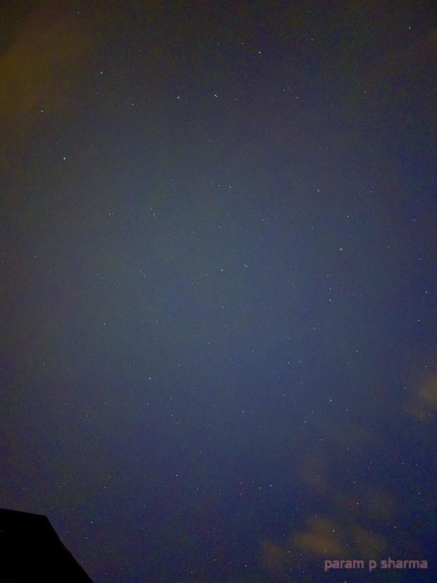 Night sky with iPhone,                                Param Sharma