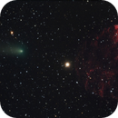 Comet 21P Giacobini-Zinner and the Jellyfish Nebula, IC 443 (SH2-248),                                Steven Bellavia