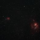 Lagoon and Trifid Nebula,                                Chris85