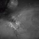 M42 Nebula, the center part, a NB image, CPH, Denmark,                                Niels V. Christensen