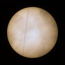 Iss transit across Sun,                                Maurizio Fortini