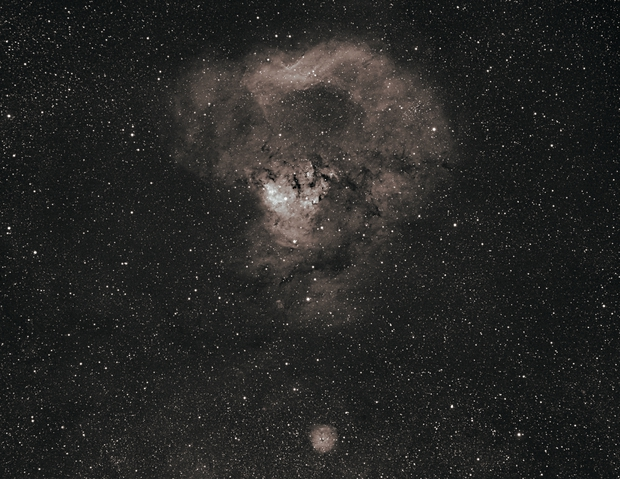 The Cosmic Question Mark, Ced 214, NGC 7822, SH2-170,                                Steven Bellavia