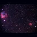 Lagoon and Trifid Nebulae,                                Meire Ruiz