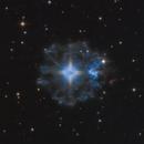 NGC 6543 - The Cat's Eye Nebula (Bicolor RGB),                                Frank Breslawski