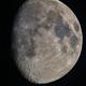 Moon 82% illuminated South Libration 7  West 4 - Mosaic of 2,                                Siegfried