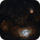 M8, M20, M21 - Lagoon, Trifid & Co.,                                DeepSkyView