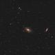 Widefield of the region around m81 / m82,                                Ricardo snauwaert