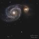 Galassia vortice m51,                                Mirco Bretta