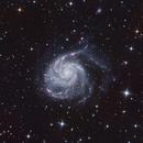 M101 Pinwheel Galaxy drizzle,                                Crisan Sorin