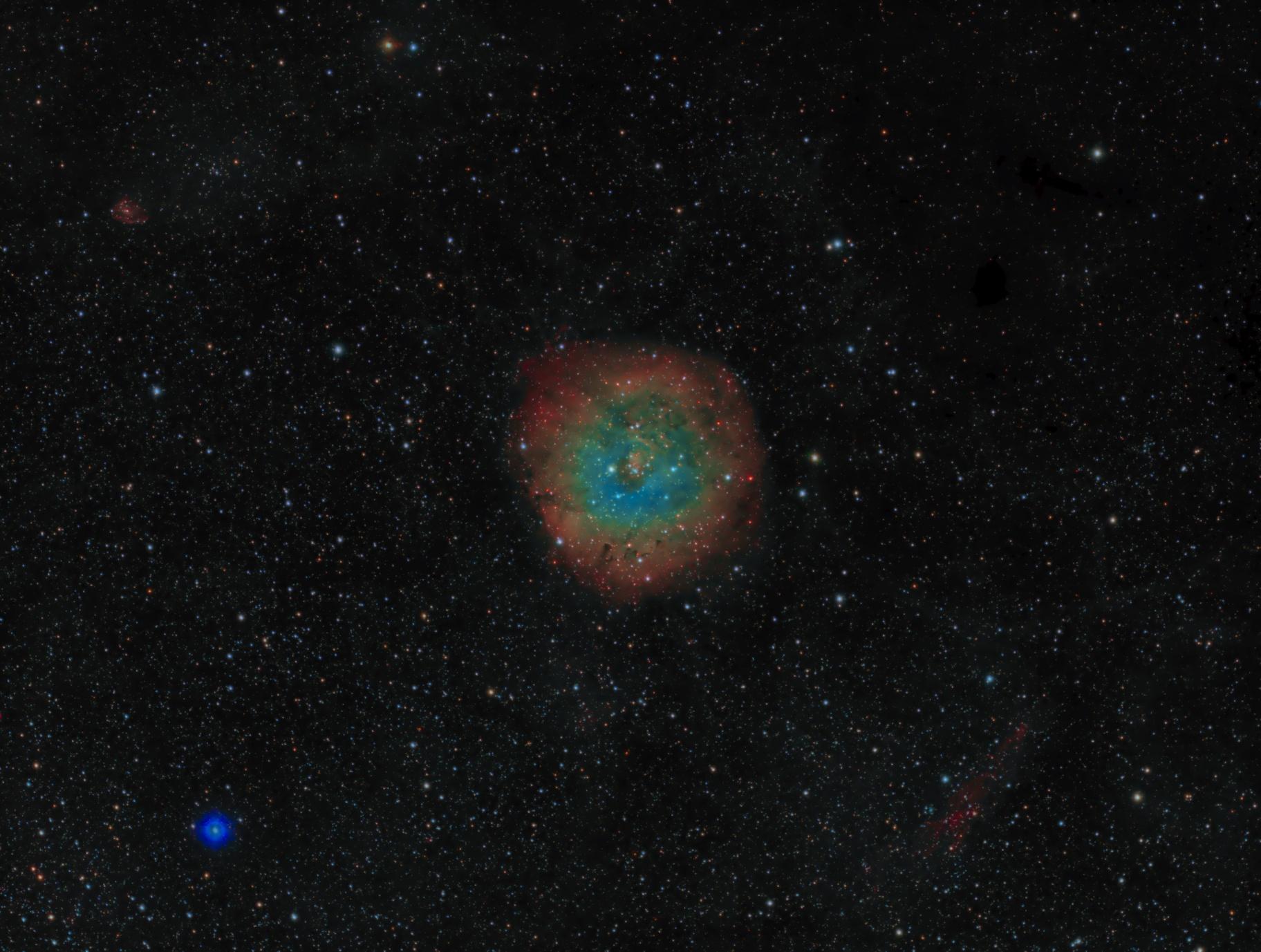 sh2-170 - Small Rosette Nebula in Cassiopeia - SHO RGB,                                Daniel.P