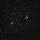 Comet 46P Wirtanen passing by The Pleiades,                                David Schlaudt
