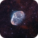 Crescent Nebula   NGC 6888   in bicolor   (HOO),                                StephanHamel