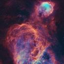 The Gabriela Mistral & Carina Nebulae. NGC3324, IC2599, NGC 3372.,                                EmuHead
