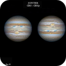 Colorful Jupiter with great red spot and red spot jr,                                Theodore Arampatz...